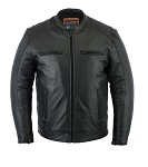 Men's Gun Pocket Vented Leather Cruiser Jacket