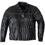 Men's Vented Reflective Conceal Carry Leather Jacket