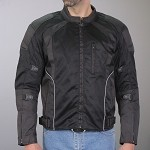 Armored Motorcycle Jacket With Reflective Piping
