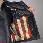 Men's Conceal Carry Leather Vest US Flag Liner