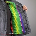 Men's Conceal Carry Leather Vest Mexican Blanket Liner