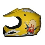 Youth Yellow DOT ATV Dirt Bike MX Back Off Helmet