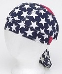 Motorcycle Skull Cap with USA Stars and Stripes