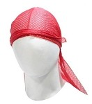Biker Motorcycle Red Doo Rag