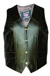 Men's Retro Brown Leather Motorcycle Vest