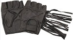 Fingerless Leather Motorcycle Gloves with Fringe