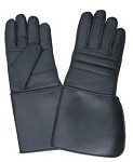Padded Leather Gloves with PVC Cuff