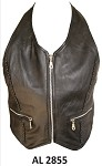 Ladies Braided Leather Halter Top