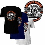Route 66 America's Highway Motorcycle T-Shirt