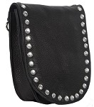 Womens Leather Hip Bag with Studs