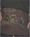 Womens Leather Belt with Stylish Studded Circles