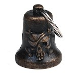Bronze Bad to The Bone Skull Motorcycle Bell