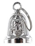 Skull and Crossbones Chrome Motorcycle Bell