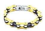 Black and Yellow Motorcycle Chain Bracelet