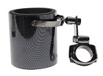 Carbon Fiber Motorcycle Handlebar Drink Cup Holder