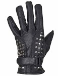 Women's Studded Leather Motorcycle Gloves