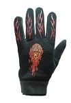 Motorcycle Textile Gloves With Flames