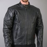Men's Vented Conceal Carry Leather Jacket