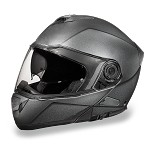 Gun Metal Gray Bluetooth Modular Motorcycle Helmet