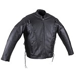 Men's Leather Motorcycle Jacket, Airvents & Zip Out Lining