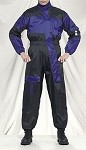 1 Piece Motorcycle Rain Suit Black/Blue