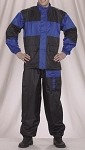 2 Piece Motorcycle Rain Suit Black/Blue