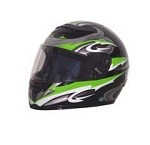 DOT Green Graphic Full Face Motorcycle Helmet