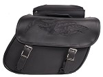 Motorcycle Saddlebags With Flame Graphics