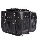 Studded Motorcycle Saddlebags With Tassels and Conchos