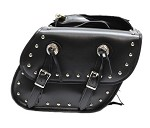 Universal Studded Motorcycle Saddlebags With Locks