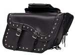 Motorcycle Saddlebags Zip-Off Studded Quick Release