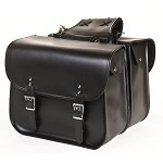 Zip-Off PVC Motorcycle Saddlebags with No Studs