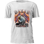 Dixie Confederate Flag Motorcycle T-Shirt