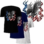 Eagle American Flag Ribbon T-Shirt