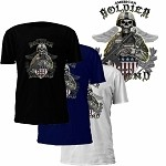 This We'll Defend Skeleton American Soldier T-Shirt