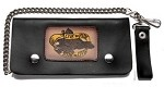 Leather Chain Wallet With Live 2 Ride, Ride 2 Live