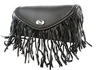 Motorcycle Windshield Bag with Fringe