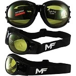 Vented Motorcycle Goggles Yellow Lens
