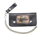 Live To Ride Heavy Duty Leather Chain Wallet