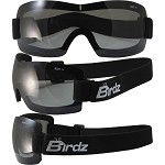 Lightweight Motorcycle Goggles Padded Smoke Lens