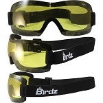 Lightweight Motorcycle Goggles Padded Yellow Lens