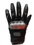 Black Hard Knuckle Motorcycle Racing Gloves